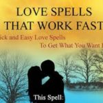 Love spells that really work in 2 days